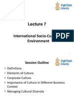 International Soco-Cultural Environment