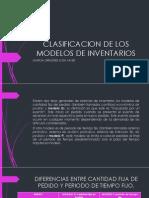 Clasificacion de Los Modelos de Inventarios