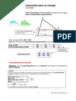 proportionnalité dans le triangle (4ème)