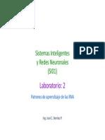 _UTP_SIRN_SL2 Patrones de Aprendizaje de Las RNA