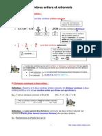 nombres entiers et rationnels (3ème)