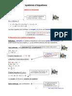 systèmes d'équations (3ème)
