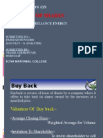 PPT on Buy Back Shares- Nikhil