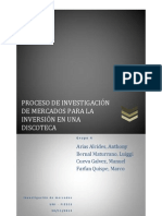 Proceso de Investigacion de Mercados Discoteca