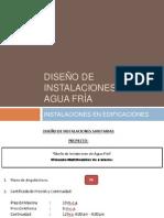 DISEÑO DE INSTALACIONES DE AGUA FRÍA