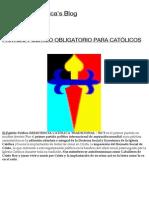 PARTIDO POLêTICO OBLIGATORIO PARA CATî LICOS _ Resistenciacatolica's Blog