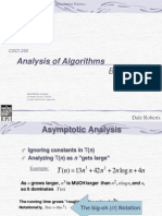 Algorithm Analysis Big Oh