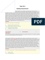Paper 2 Reading Comprehension