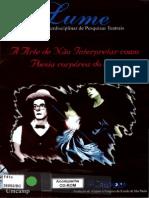 A arte de não interpretar como poesia corpórea do ator - Renato Ferracini