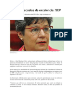Iniciarán escuelas de excelencia. Alba Martínez O. 12.12.2013.pdf