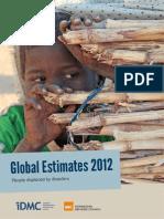 Global Disaster Human Displacement Estimates 2012 May2013