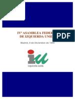 IV Asamblea Federal IU DocumentosPoliticos 9 Dic 1994