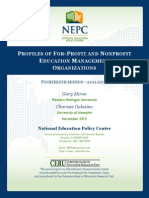 Report on for-profit charter management companies