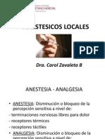 Anestesicos Locales 2013