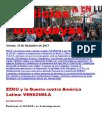 Noticias Uruguayas Viernes 13 de Diciembre Del 2013