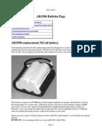 AOR AR1500 Bulletin Page