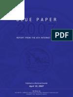 Blue Paper 2007