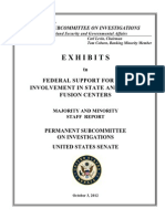 Exhibits to Fusion Center Report