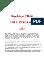 Loi Electorale 2013