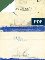 Karl Kaamani joonistused laevadest