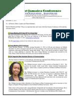 Communication Advisory for Dec 13 -2013