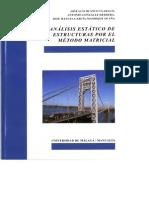 ANALISIS ESTATICO DE ESTRUCTURAS POR EL MÉTODO MATRICIAL, J. Blanco, España, 2012. 168p.