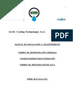 Manual Técnico de los Condensadores Sim-Cooling _ Acquateam modelos RAX-KAX-AXT Spagnolo  jul-08-2013