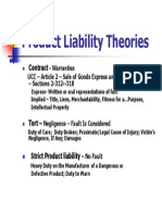 Product Liability Theories