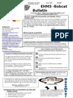 Bobcat Bulletin 12-16-13