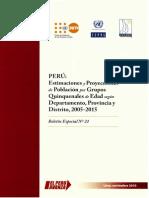 INEI Peru Bol21 Estimaciones Proyecciones 2005 2015
