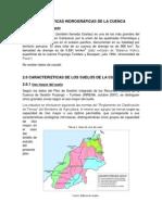 Características hidrográficas de la cuenca