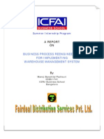 ERP-Business Process Re-Engineering for Implementing Warehouse Management System