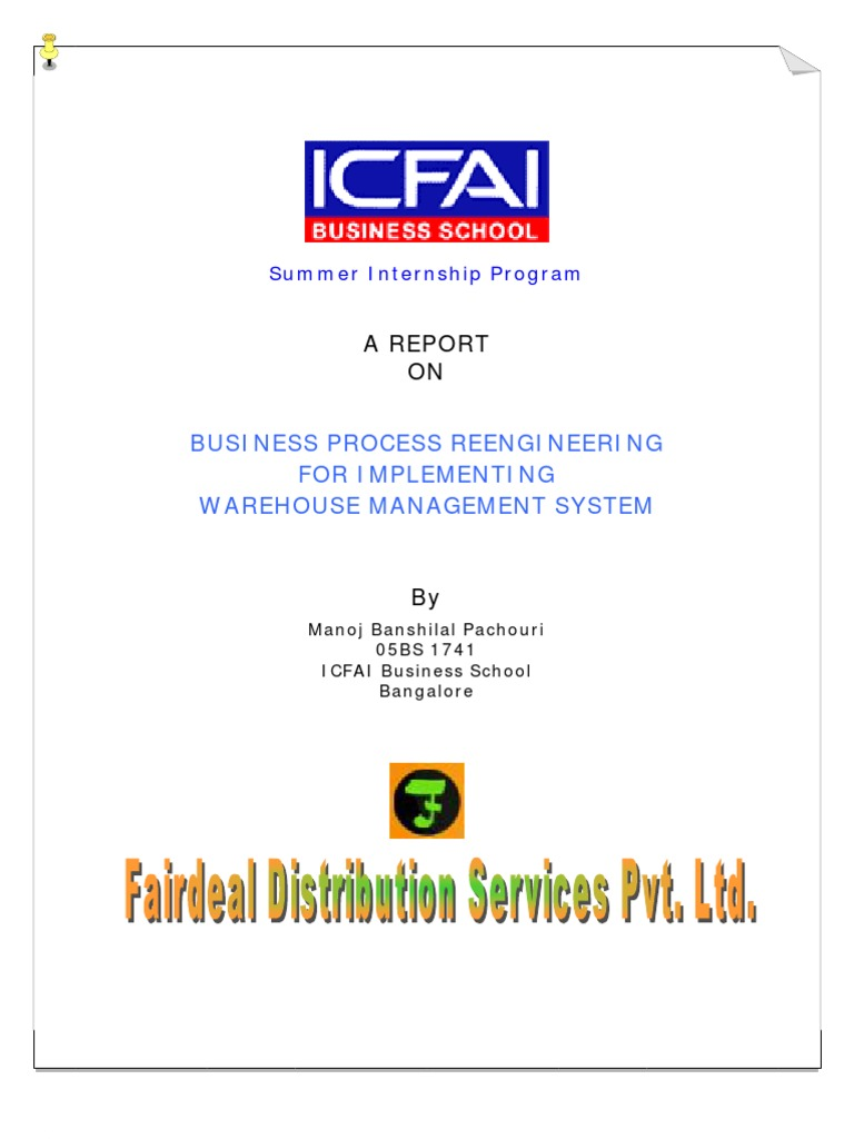 erp business process re engineering for implementing warehouse