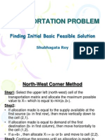 Transportation Problem_finding Initial Basic Feasible Solution
