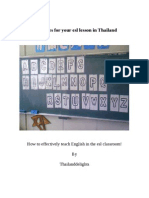 Esl Games for Your Esl Lesson in Thailand