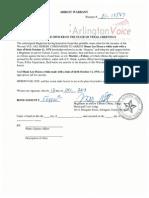 Arrest Warrant Affidavit | Shane Lee Dixon