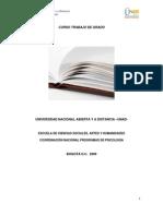 Protocolo y Modulo Curso de Trabajo de Grado