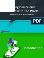 Sharing in A Device First World (MoDevEast Presentation)