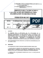 procedimiento calificación de PERSONAL