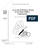 Note on the premilinary version of the meyer-muller's cryptosystem