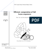 Efficient Computation Of Full Lucas Sequences