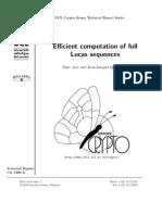 Efficient Computation Of Full Lucas Sequences