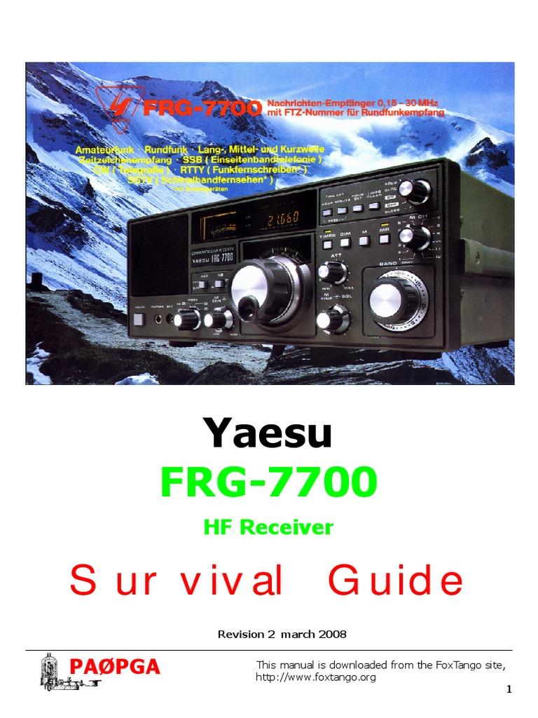 yaesu frg7700 communication receiver repair manual