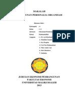 Penyusunan Personalia Organisasi (Manajemen)