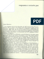 Respuesta a Octavio Paz
