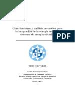 CONTRIBUCIONES Y ANÁLISIS NORMATIVO PARA LA INTEGRACIÓN DE LA ENERGÍA EÓLICA EN SISTEMAS DE ENERGÍA ELÉCTRICA