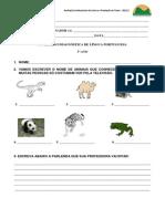AVALIACAO DIAGNOSTICA II De Leitura e Produ+º+úo de Texto 2012