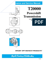Dana T2000 6 Speeds Long Drop Service Manual