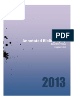 annotated biblyography