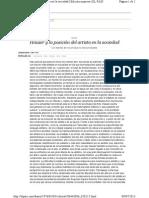 Hauser y la posición del artistca-El País